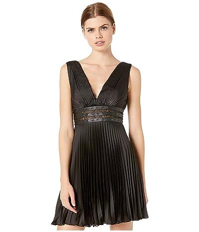 BCBGMAXAZRIA Eve Short Woven Dress (Black) Women