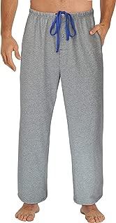 Sleepwear Mens Jersey Knit Pajama Pants, Long Pj Bottoms
