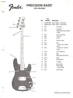 FENDER Precision Bass Electric Guitar, Parts List