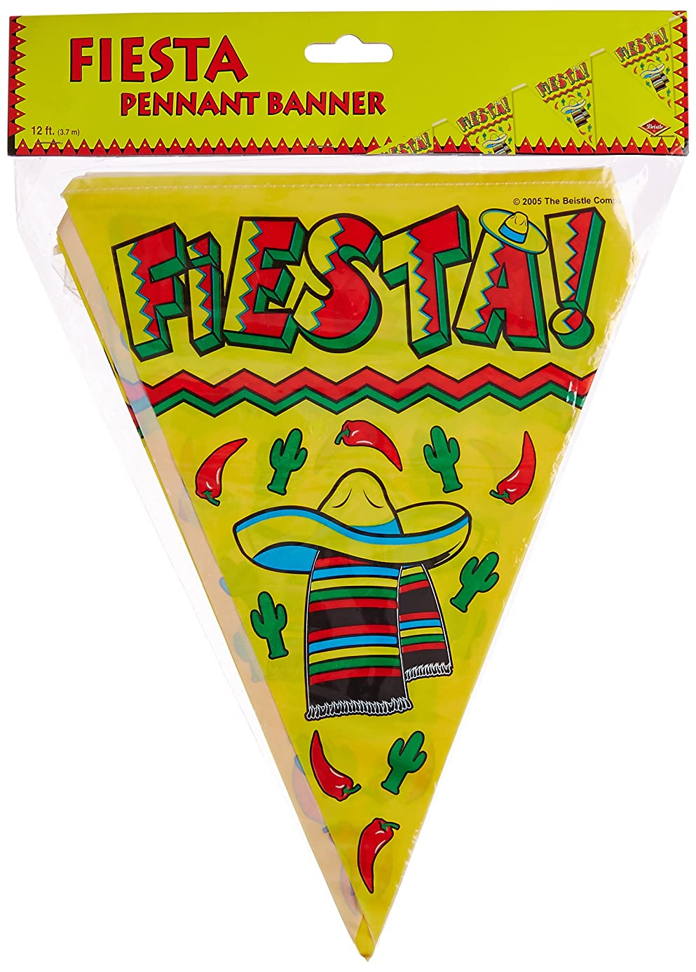 Fiesta Pennant Banner Party Accessory (1 count) (1/Pkg)