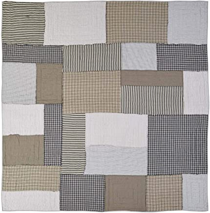 featured product VHC Brands Farmhouse Bedding - Ashmont Grey Quilt King