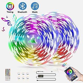 Bluetooth LED Light Strips 32.8ft,kdorrku Color Changing LED Strip Lights Brighter 5050 LED Neon Mood Lights,Smart APP Control,28 scenes Mode Multicolor LED Music Lights for Bedroom,Room,Kitchen,Party