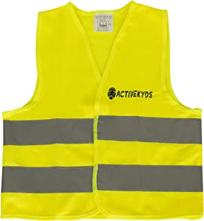 Active Kyds High Visibility Kids Safety Vest for Construction Costume, Biking
