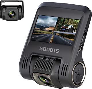 Dual Dash Cam GOODTS 1080P Full HD Dash Camera for Cars, Car Video Recorder with G-Sensor,Front and Rear Camera 170° Wide ...
