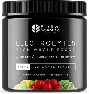 Electrolytes from Whole Foods - Electrolyte Powder, Advanced Natural Formula for Energy, Hydration and Recovery with Magnesium, Potassium, Calcium, Chloride and Sodium, Natural Berry Flavor