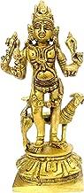 Purpledip Brass Idol Kaal Bhairava (Mahakala Bahirav): Hindu Tantric Deity, Avatar of Siva (11843)