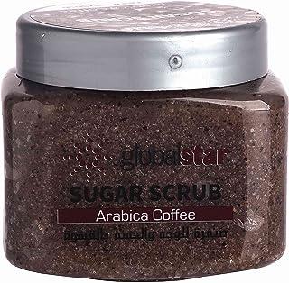 مقشر السكر بالقهوة للوجه والجسم من جلوبال ستار، 600 غرام