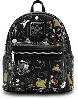 Loungefly x Nightmare Before Christmas Women's Allover-Print Character Mini Backpack