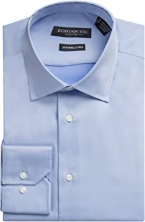 Men's 100% Cotton Modern Fit Long Sleeve Dress Shirt - Colors