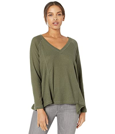 Jack by BB Dakota Warm Welcome Activewear Shirt (Dark Sage) Women