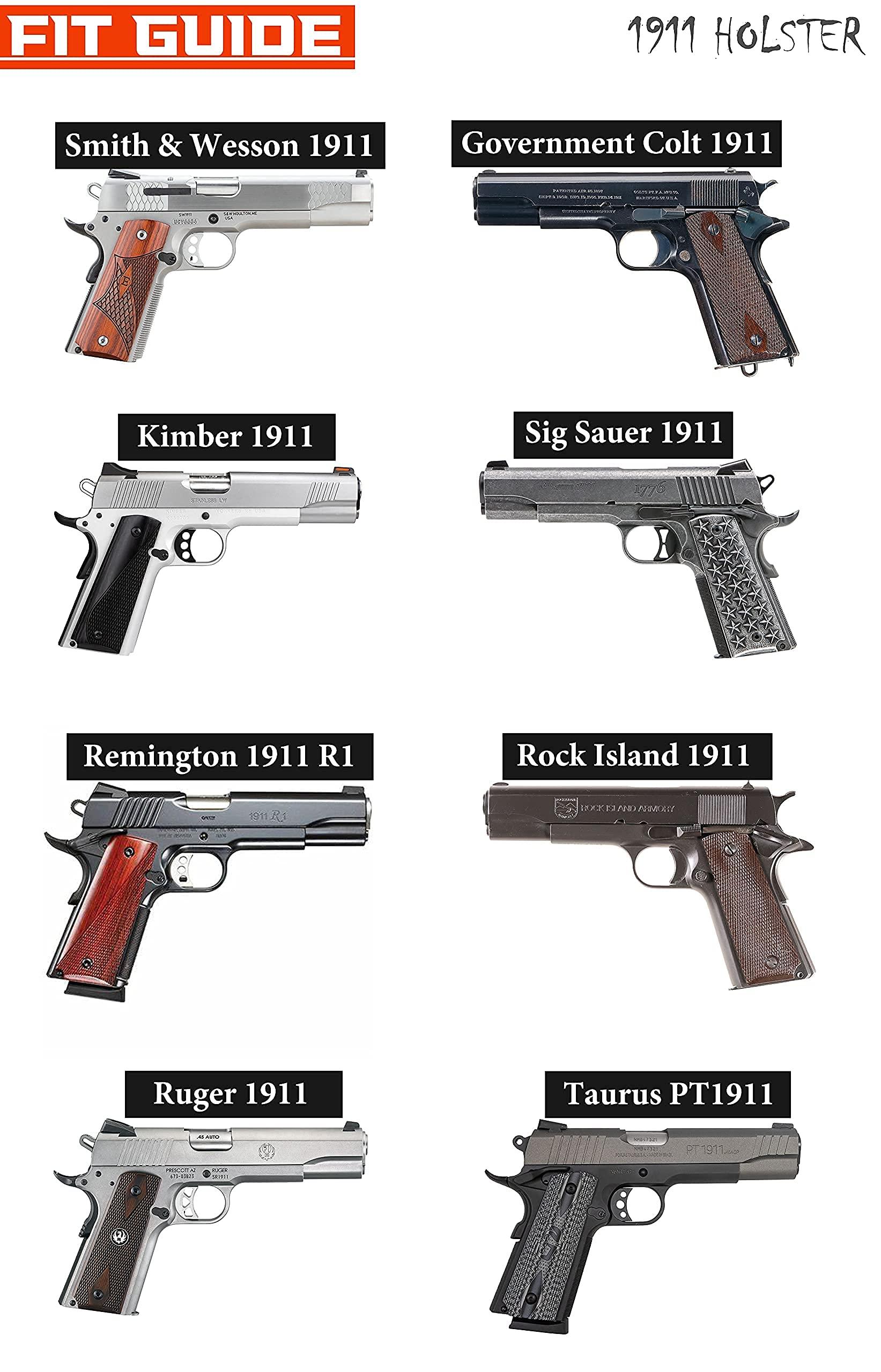 BELT SLIDE Holster for GLOCK RUGER COLT 1911 S/&W SIG SAUER RSS3 VERSACARRY IWB