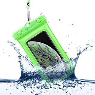 Power Theory Funda Impermeable Móvil - Bolsa Estanca Flotante (Certificada IPX8) - 16 cm - iPhone XS MAX,XR,X,7,8,6 Plus, Samsung Galaxy S10 Plus, S9, Edge, S8, S5, HTC, Huawei y Otros