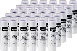 Amazon Basics Purple Washable School Glue Sticks, Dries Clear, 0.24-oz Stick, 30-Pack