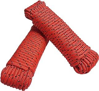 Touw 8 mm 40 m - 2 stuks set - polypropyleen touw PP, vastmakerslijn, multifunctioneel touw, breien, tuintouw, outdoor - b...