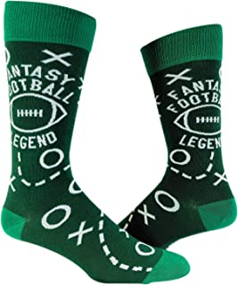 Fantasy Football Legend Socks Funny Sarcastic Game Day Tailgate Gift for Dad