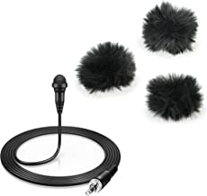 Sennheiser ME 2-II Omnidirectional electret condenser lavalier with Fuzzy Dead Thing 3 Pack for Medium Lavalier (Black)