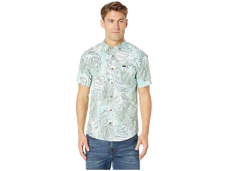 Dakine Poipu Short Sleeve Woven Shirt (Saltwater Washed Palm) Men