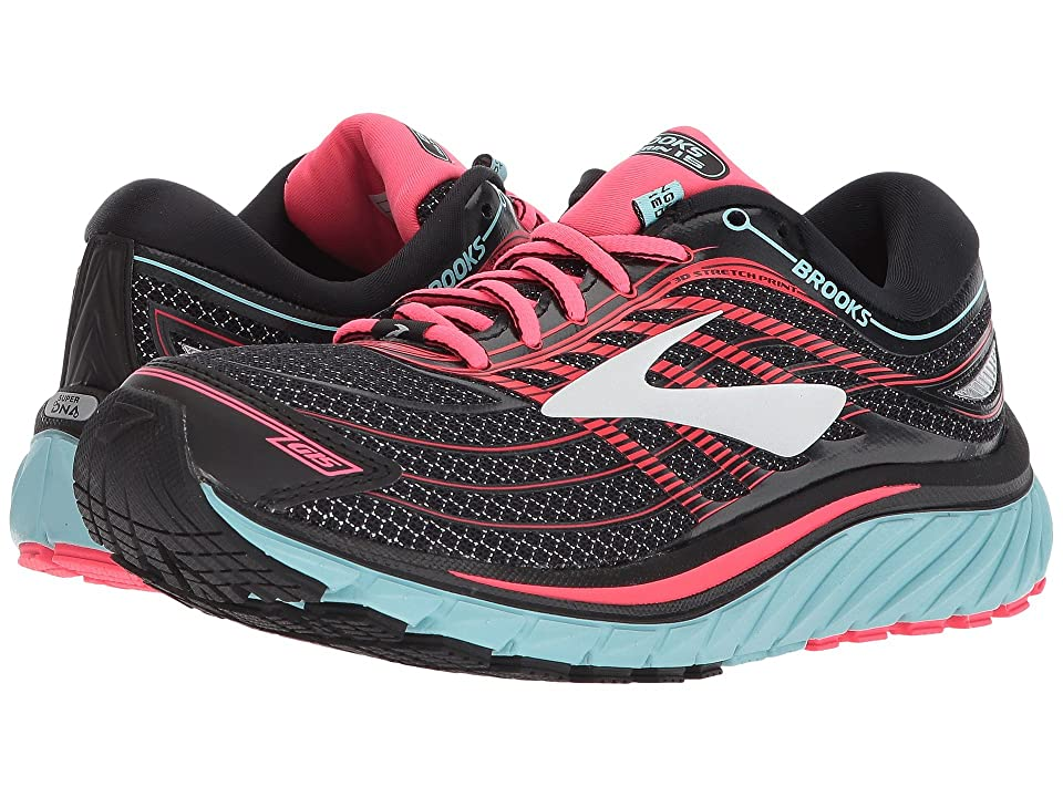 Brooks Glycerin(r) 15 (Black/Island Blue/Diva Pink) Women