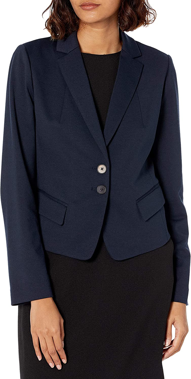 MILLY Women's Fallon Ponti Jersey Blazer in Cropped Length