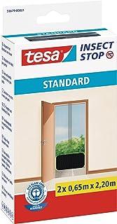 comprar comparacion TESA 55679-00021-03 Malla mosquitera Standard para puertas, 2 telas de 0,65 cm x 2,2 m, color negro