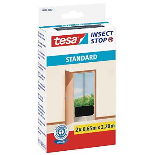 Tesa 55679-00021-03 Malla mosquitera Standard para puertas, 2 telas de 0