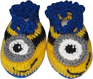 Minion Crochet Baby Booties - Different sizes
