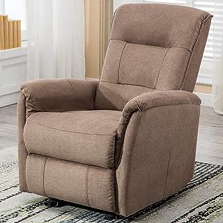 ANJ Rocker Recliner Chair, Single Modern Sofa Home Theater Seating, Manual Reclining Chair for Living Room, Smoke Grey