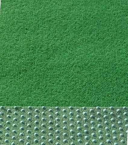 Farbe beigebraun Kunstrasen Rasenteppich mit Noppen angenehm weich 350 x 133 cm 133cm Breite