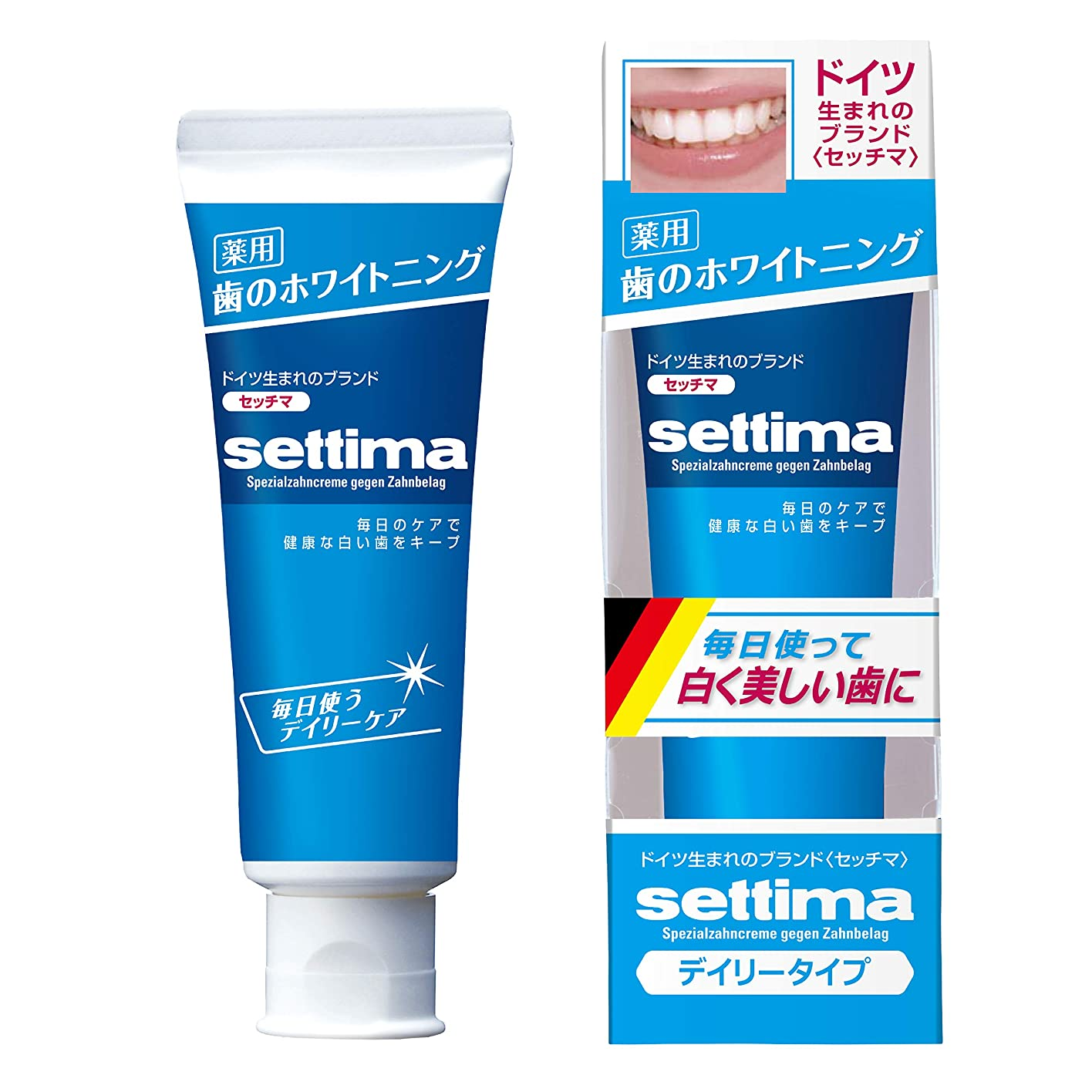 消費する人ネストsettima(セッチマ) ホワイトニング 歯みがき デイリーケア [ファインミントタイプ]  80g