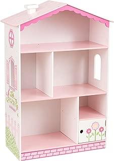 KidKraft Dollhouse Cottage Bookcase Wooden Children's Furniture with Shelves and Hidden Storage