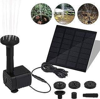 Molbory Solarpumpe Teichpumpe, 1,5 W Springbrunnen Solar Pumpe mit 6 Verschiedenen Düsen, Solar Wasserpumpe Fontäne Pumpe ...