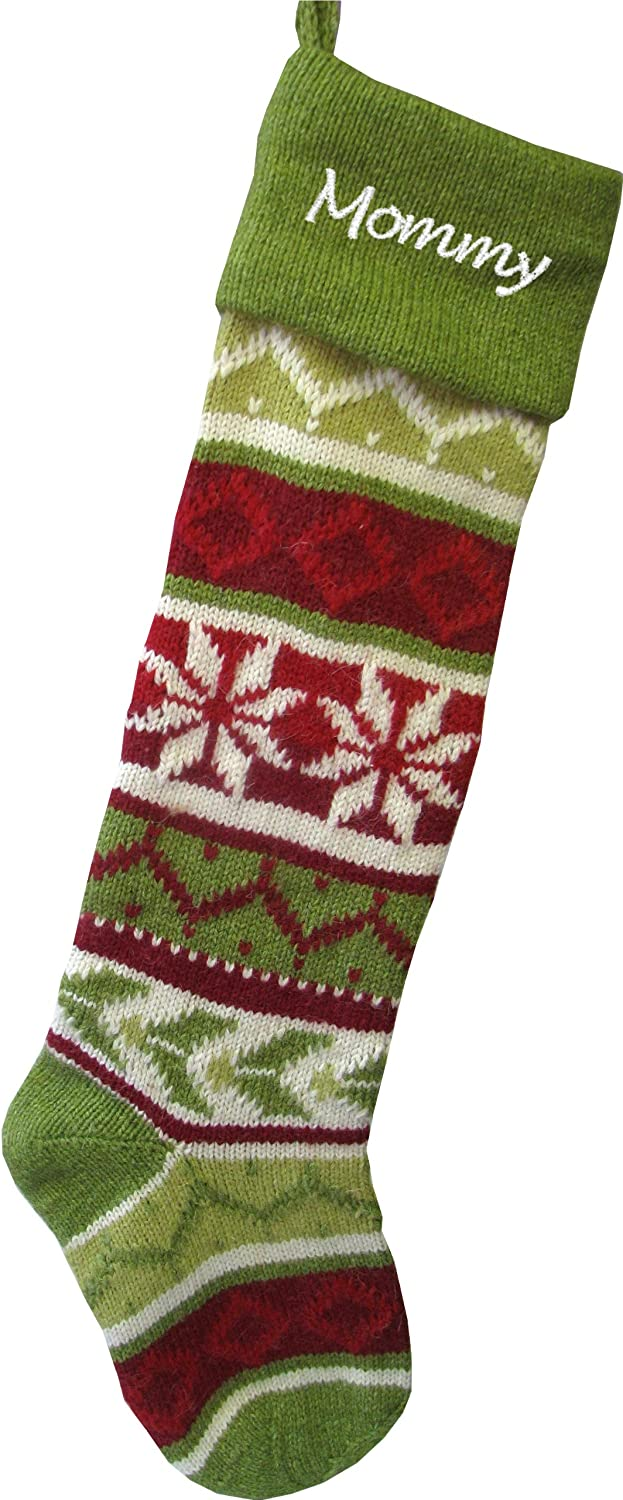 Personalized store Knit Christmas Stockings - Selling rankings : Cuff Red Green