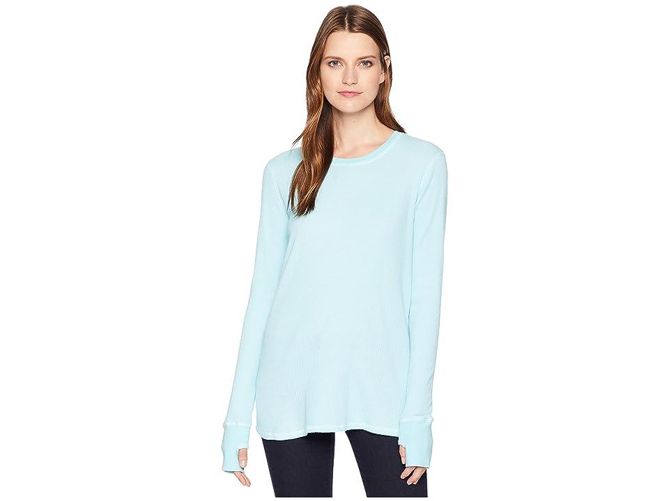 Image of Allen Allen L/S Thumbhole Tee (Aquamarine) Women's Long Sleeve Pullover