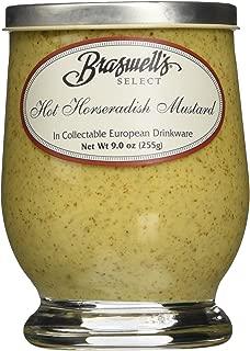 BRASWELLS Hot Horseradish Mustard, 9 OZ