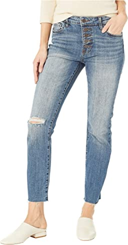 Reese Ise Ankle Straight Expo Bottom Jeans in Interested/Medium Base Wash