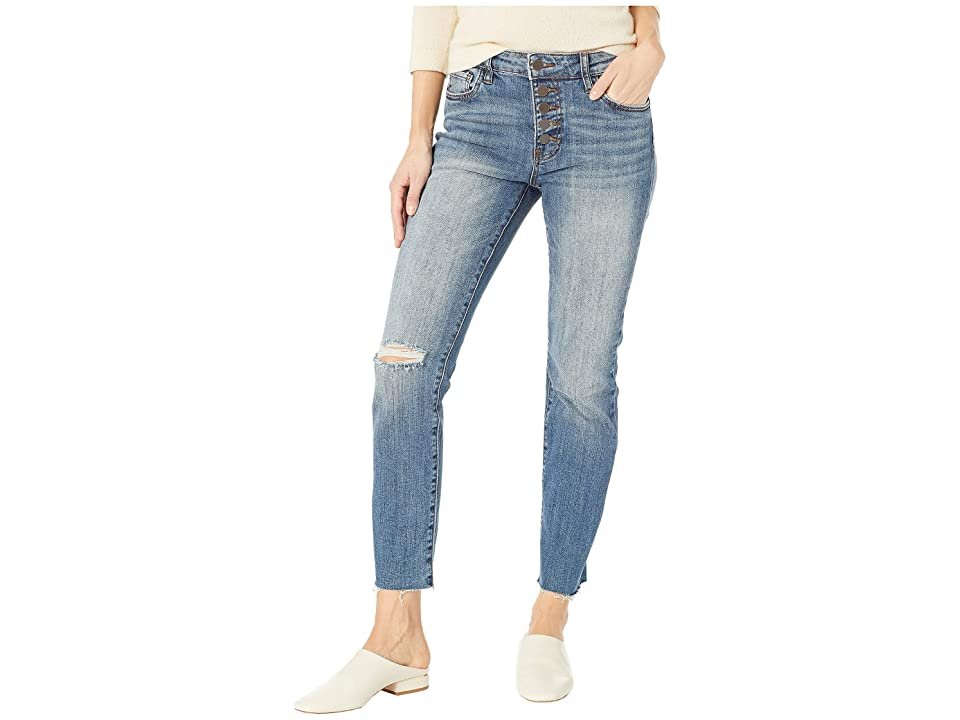 KUT from the Kloth Reese Ise Ankle Straight Expo Bottom Jeans in Interested/Medium Base Wash (Interested/Medium Base Wash) Women