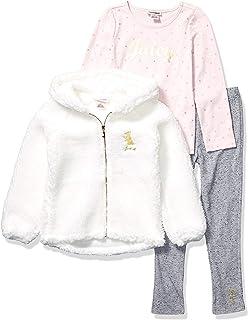 Juicy Couture Girls' 3 Pieces Jacket Pants Set