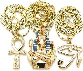 Fashion 21 Egyptian Ankh Cross, Eye of Horus, Anubis Pendant 24