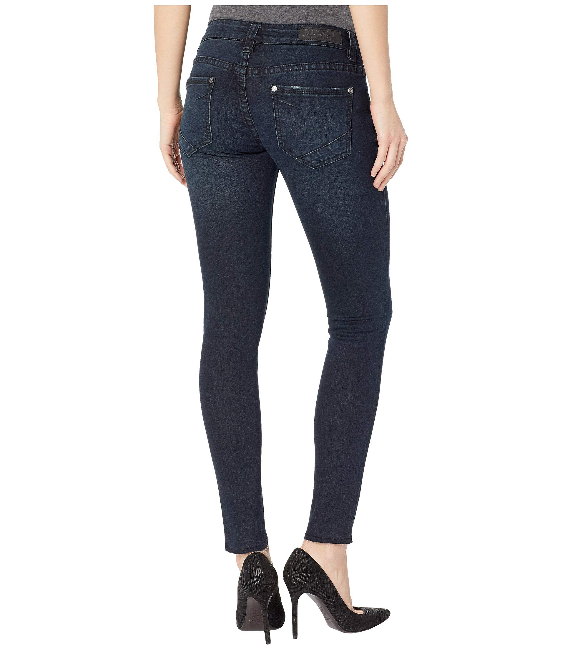 Rise Low Cowgirl W0c7661 Black Rock Roll In Ankle And Wash qtZzRwI