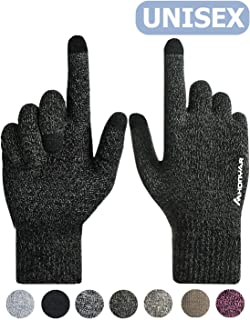 (Upgraded) HONYAR Knit Winter Touch Screen Gloves For Men and Women - Warm Soft Lining - Anti-slip Grip - Elastic Cuff