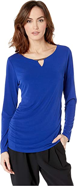 Long Sleeve with Ruching and Hardware