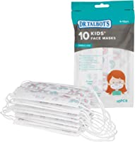 DrTalbots 10erPack Mundschutzmasken für Kinder - Mädchen - 4-12 Jahre - Farbe kann variieren (Regenbogen/Prinzessin)