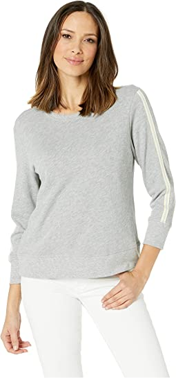 Rib Trim French Terry Sweatshirt