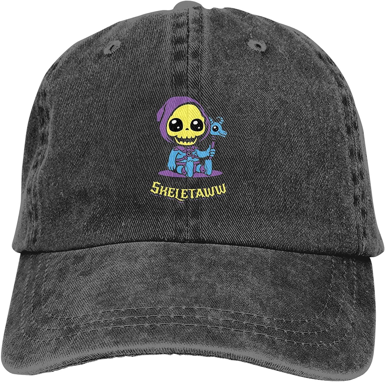 Cute Skeletaw Cowboy Hat Adjustable All-Season Neutral Cap Black
