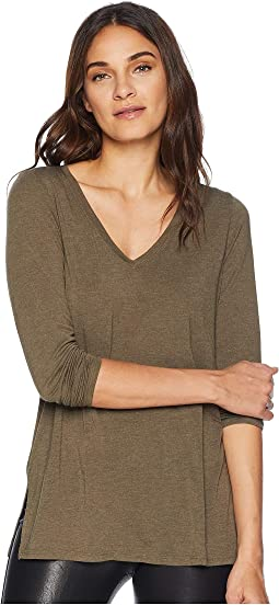 Brixton Jersey Long Sleeve V-Neck Boyfriend Tee