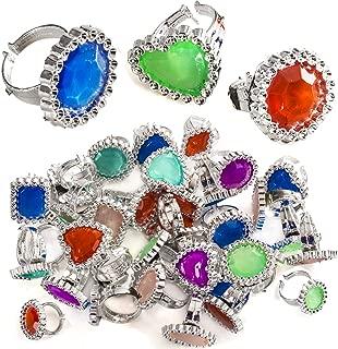 Rhinestone Plastic Rings – Princess Rings – Princess Accessories