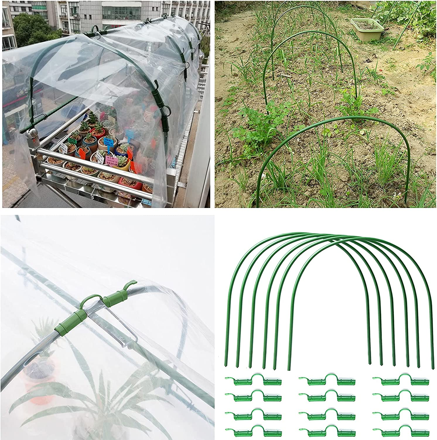 Dysetcs Garden Hoops 6 Pack Support Super-cheap Stakes Free shipping on posting reviews Grow Tun Plant