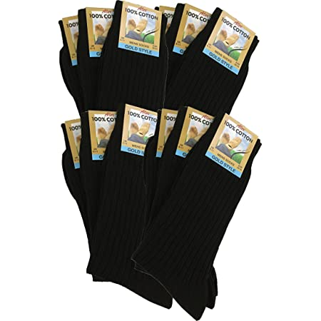 Men's 100% Pure Cotton Ribbed Socks allow your feet to breathe and absorb.