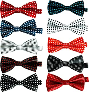 Elegant Pre-tied Bow ties Formal Tuxedo Bowtie Set with Adjustable Neck Band,Gift Idea For Men And Boys(5/8/10/20 Pcs)