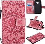 f�r Galaxy J2 Pro 2018 H�lle,Gepr�gte Muster Handy h�lle/Tasche/Cover/Case f�r das Samsung Galaxy J2 Pro 2018 PU Leder Flip Cover Leder H�lle Standfunktion Kredit Kartenf�cher (S) (2)